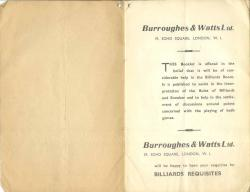 Burroughes & Watts  B&W 35-36