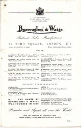 Burroughes & Watts  B&W 55-56